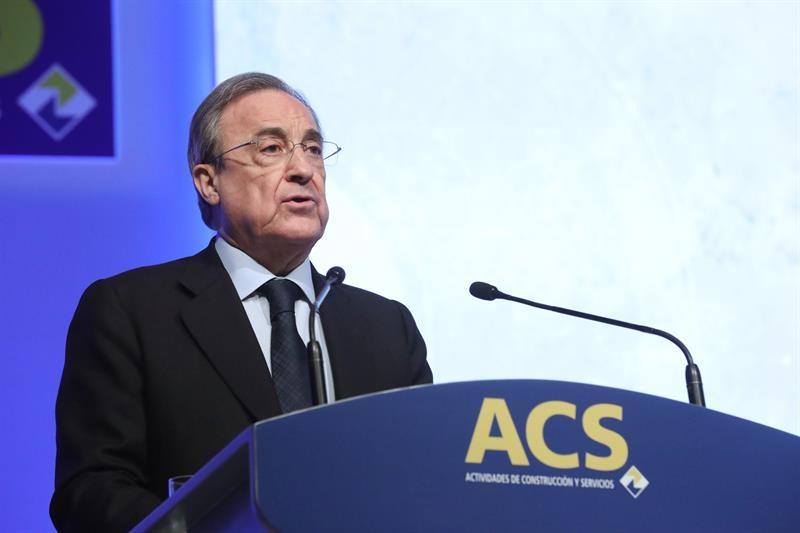 El presidente de ACS, Florentino Pérez, durante la junta de accionistas de 2017.