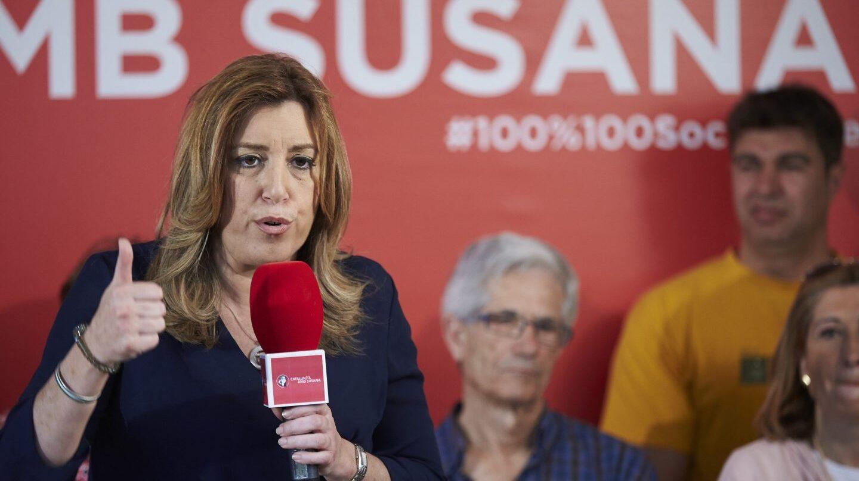 La socialista Susana Díaz, en el acto de este sábado en Barcelona.