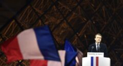 Emmanuel Macron comparece ante sus simpatizantes, tras ser elegido presidente de Francia.