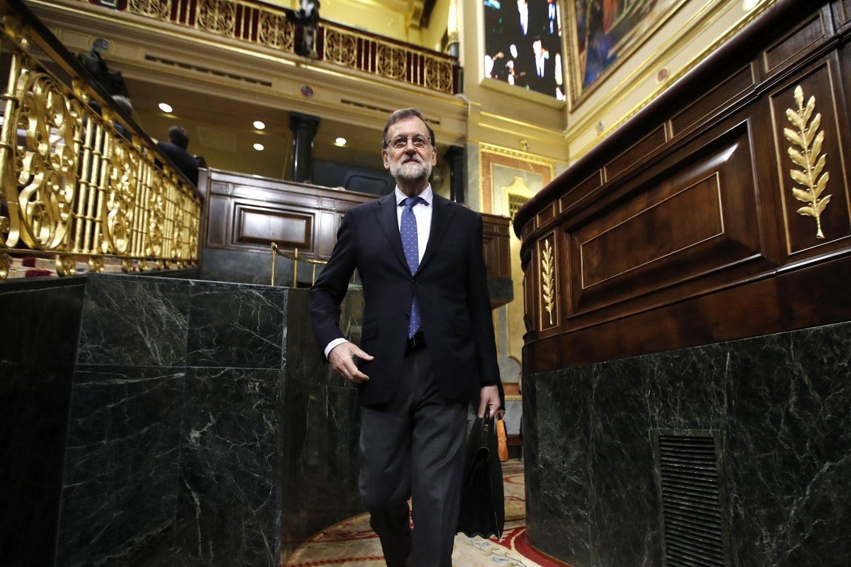 Mariano Rajoy entra en la Cámara.