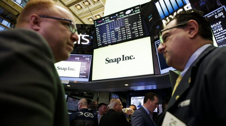Logo de Snap en Wall Street.