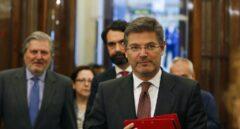 El ministro de Justicia, Rafael Catalá, este martes en el Congreso donde fue reprobado.