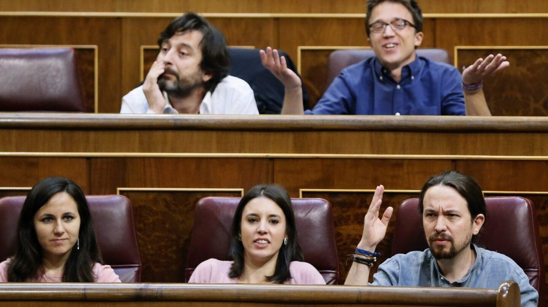 El grupo parlamentario de Unidos Podemos-En Comú Podem-En Marea.