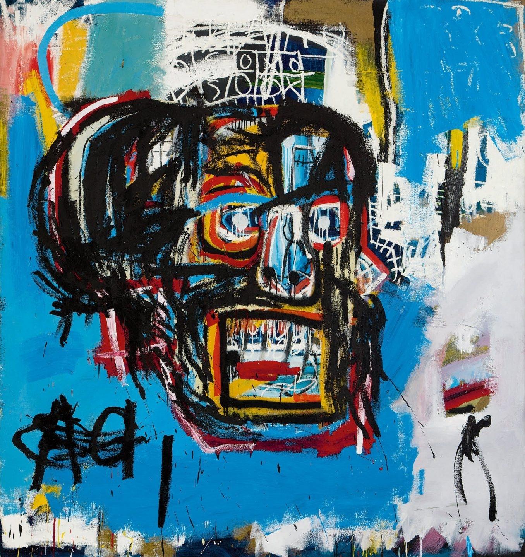 Fotografía sin fecha cedida por la casa de subastas Sotheby's que muestra una pintura del artista fallecido Jean-Michel Basquiat.