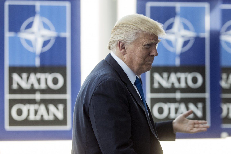 Donald Trump, en la cumbre de la Otan.