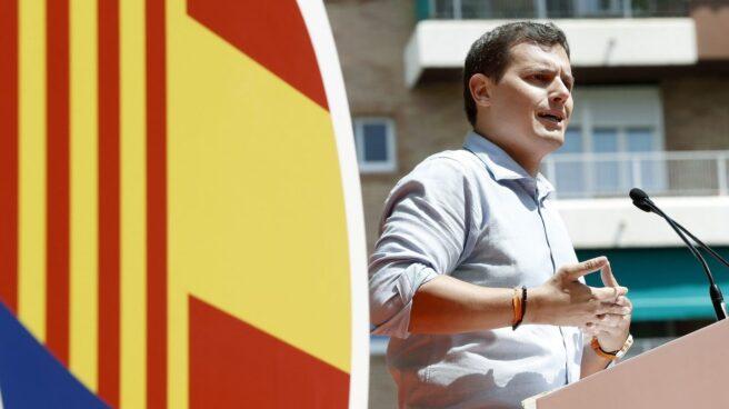 El líder de Ciudadanos, Albert Rivera, durante una intervención en Cataluña.