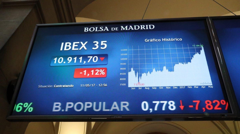El Banco Popular cae en Bolsa.