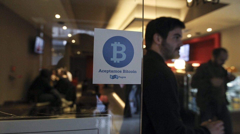 Un local comercial en el que se puede pagar en Bitcoin.