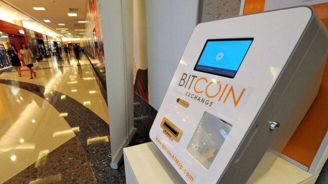 Cajero para el cambio de Bitcoins, en Japón.