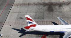 Cola de un avión de British Airways.