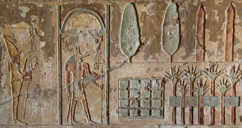 Detalle de tumba de Remini en la que aparece un jardín funerario