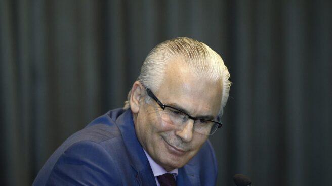 Baltasar Garzón, inhabilitado en 2012 por el Tribunal Supremo, en un acto público.