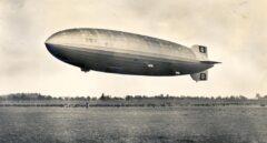 Así era el Hindenburg durante un vuelo.