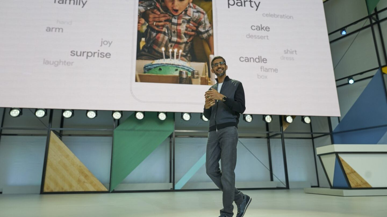 Sundar Pichai, CEO de Google, en la conferencia de desarrolladores.
