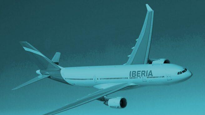 Airbus A330 de la compañía Iberia, del grupo IAG.