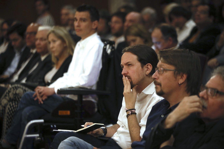 Pablo Iglesias y Xavi Domènech.