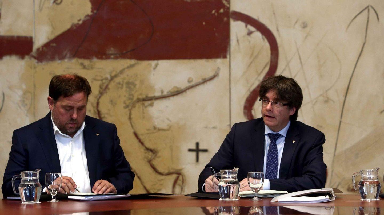Puigdemont Junqueras pregunta referendum