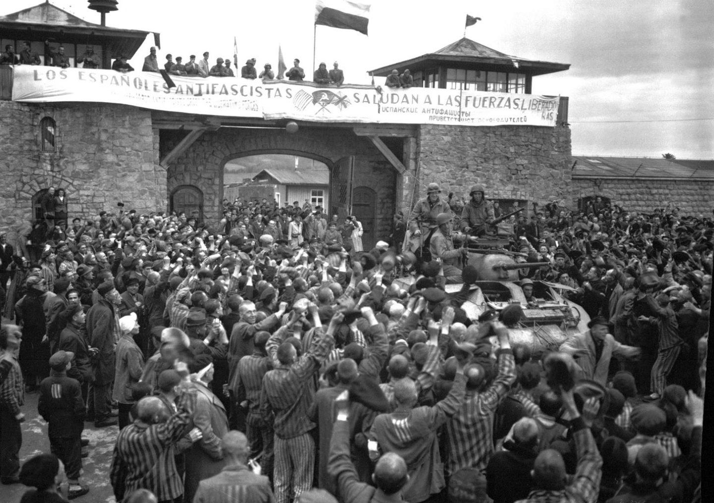 El campo de Mauthausen, el día de su liberación.