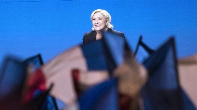 Marine Le Pen, candidata del Frente Nacional, en un mitin electoral en Francia.