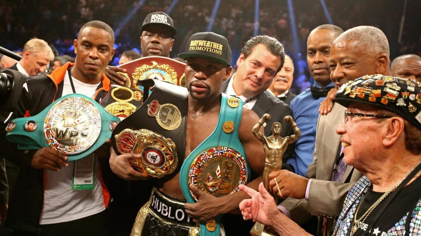 Floyd Mayweather, tras un combate.