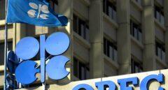 Logo de la OPEP (OPEC, en inglés), en su sede de Viena.