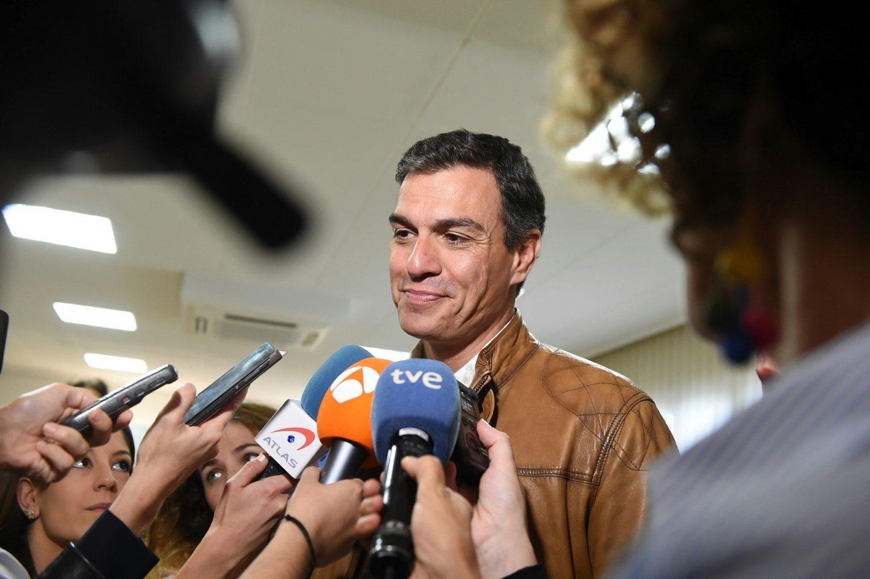 Pedro Sánchez, en un acto en Madrid.