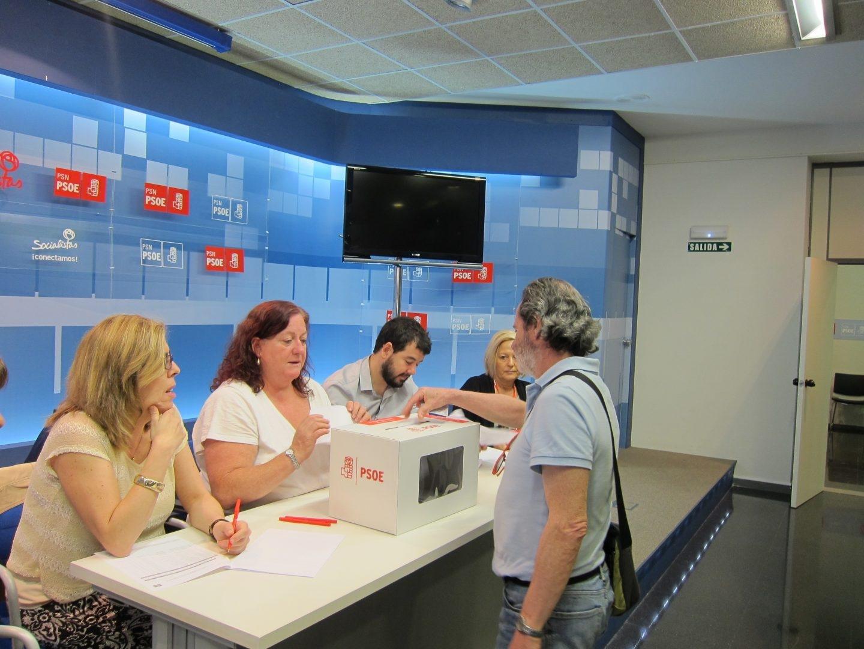 Votaciones en las primarias PSOE.