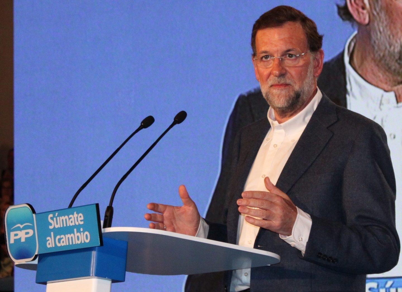 Mariano Rajoy, en un mitin en 2011.