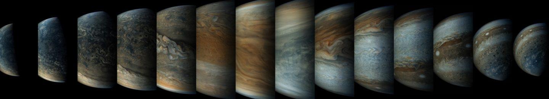 Secuencia de aproximación a los polos de Júpiter