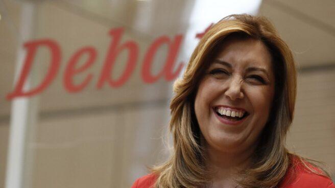 Susana Díaz, en el debate en Ferraz.