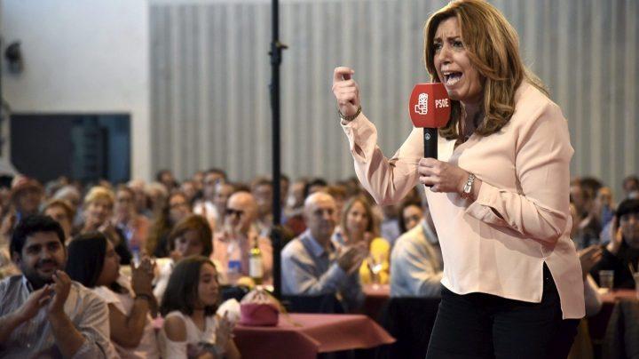 Susana Díaz, en un acto en Huesca.