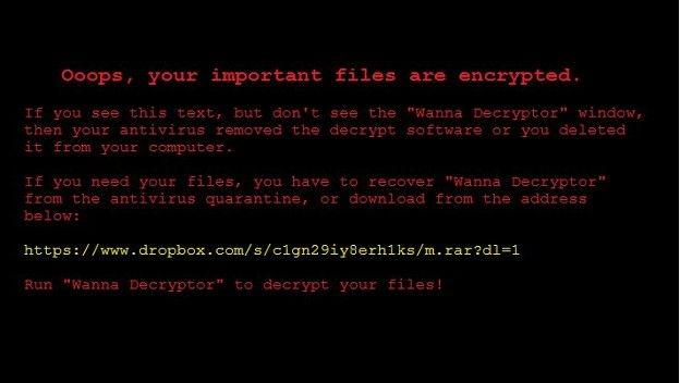 El mensaje de los ciberdelincuentes en un ataque de ransomware.