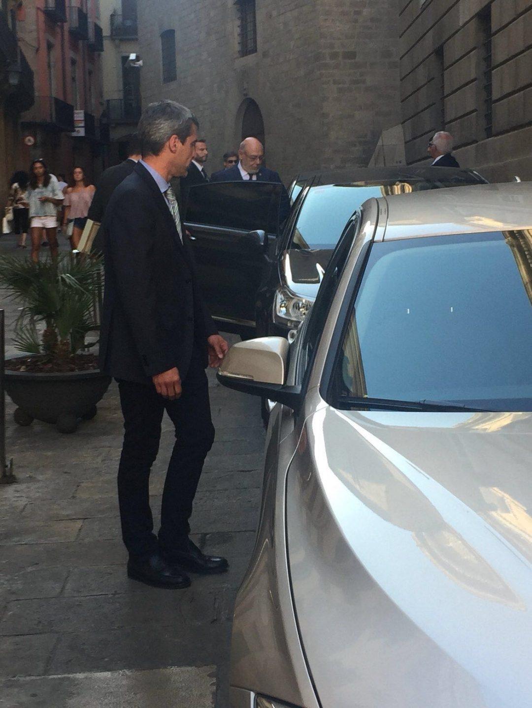 José Manuel Maza, tras su reunión con Puigdemont.