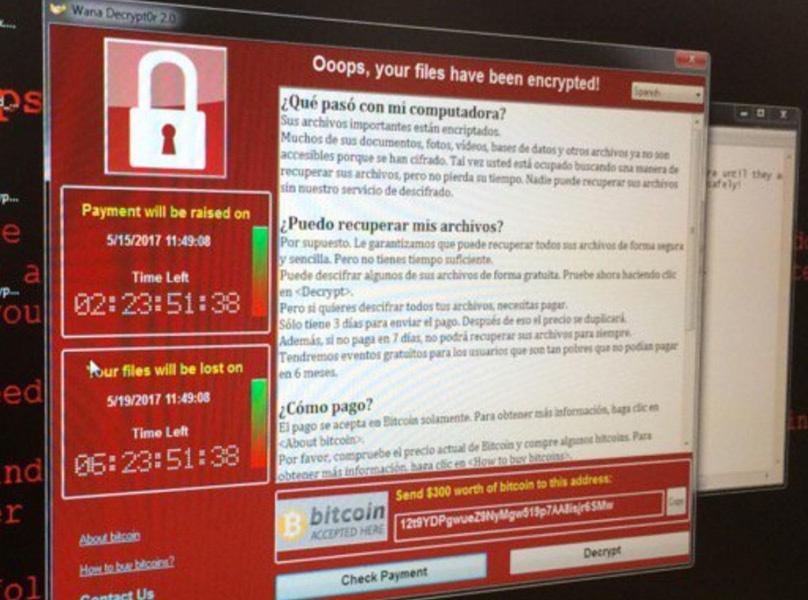El mensaje de petición rescate que ha aparecido en los ordenadores de Telefónica.