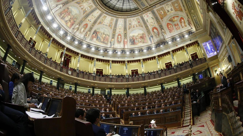 Vista general del Hemiciclo del Congreso de los Diputados, durante una intervención de Rajoy.
