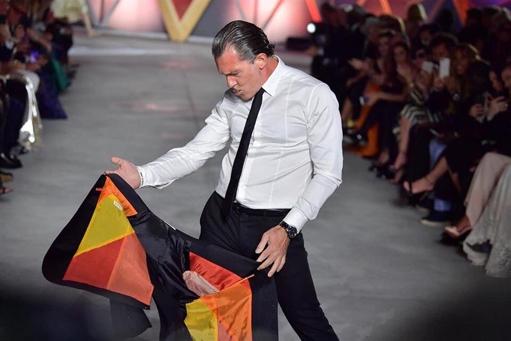 Antonio Banderas, en un desfile en Cannes.