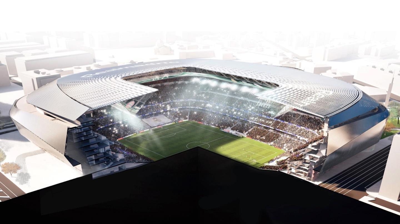 Detalle del nuevo Santiago Bernabéu