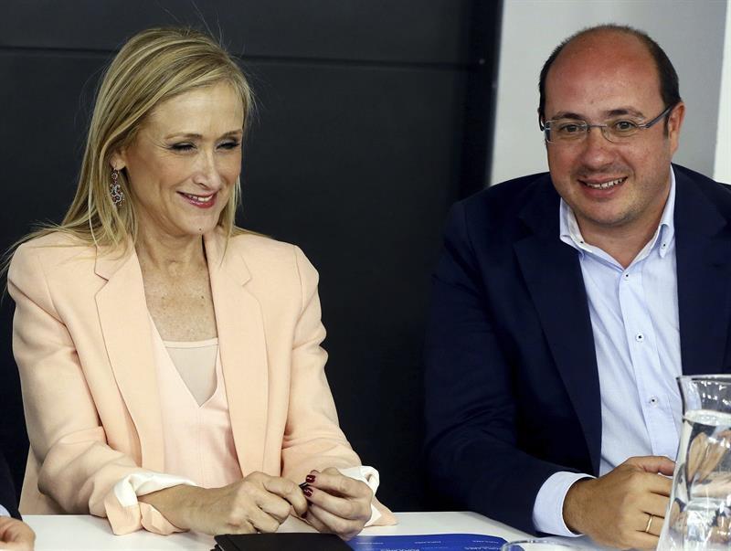 Cristina Cifuentes y el ex presidente murciano Pedro Antonio Sánchez