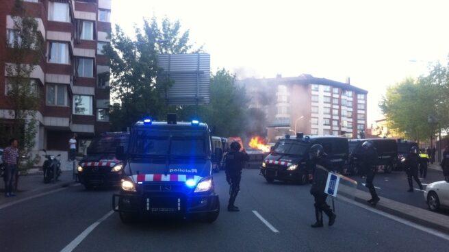 Incidentes en una manifestación en Barcelona.