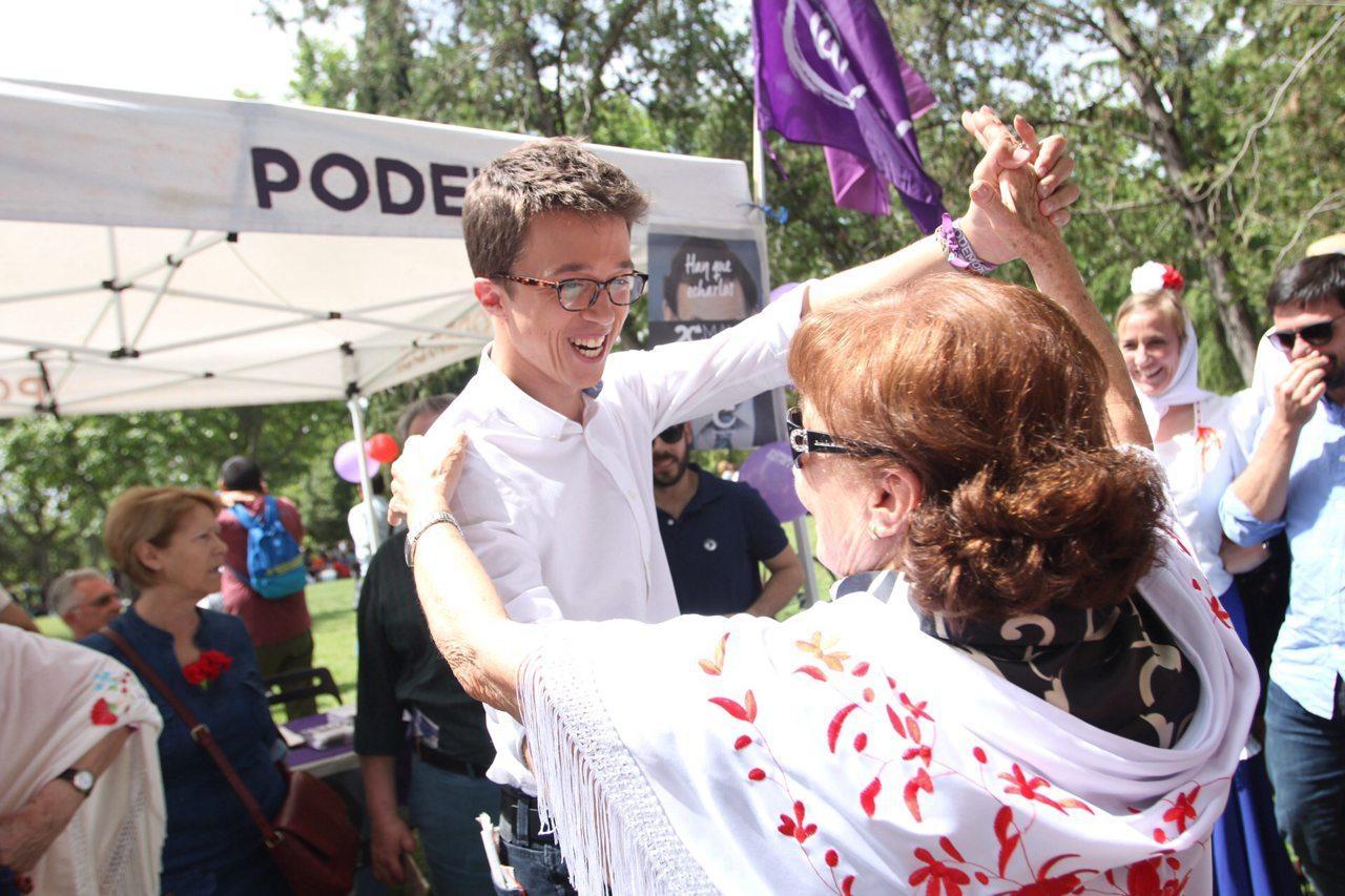El secretario de Análisis Estratégico, Iñigo Errejón, el pasado lunes en las fiestas de San Isidro.