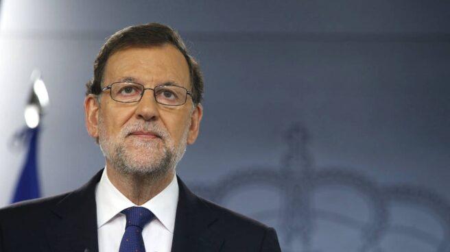 El presidente del Gobierno, Mariano Rajoy, en una comparecencia pública.