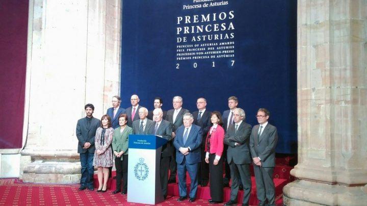 El jurado del premio Princesa de Asturias de Comunicación y Humanidades.