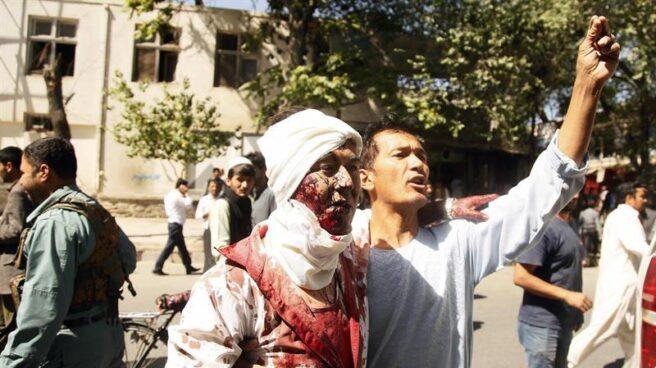 Imagen del atentado terrorista en Kabul.