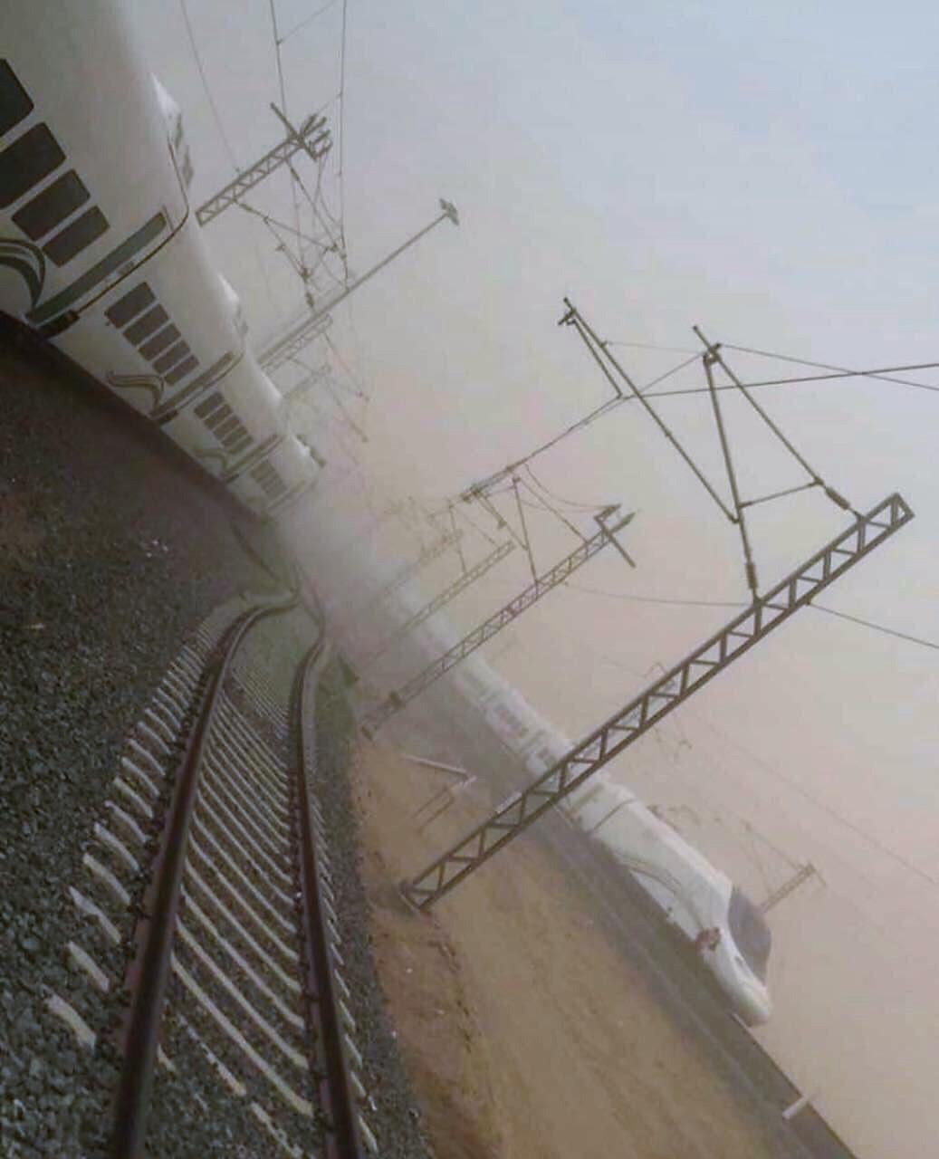Tormenta de arena en el AVE a La Meca.