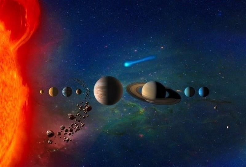 En la recreación se observan los planetas de nuestro Sistema Solar y el cinturón de asteroides.