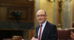 Cristóbal Montoro, ministro de Hacienda, este jueves en el debate sobre enmiendas a los Presupuestos.