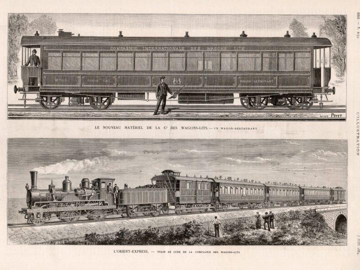 Ilustración del Orient Express.