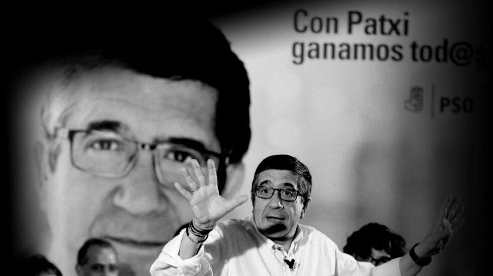 Patxi López en un mitin.