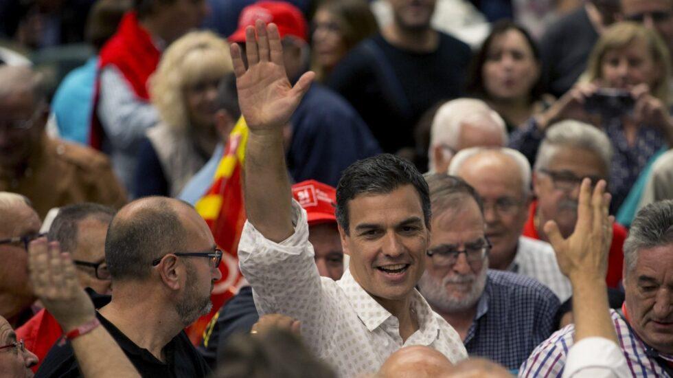 Pedro Sánchez este jueves en Viladecans.