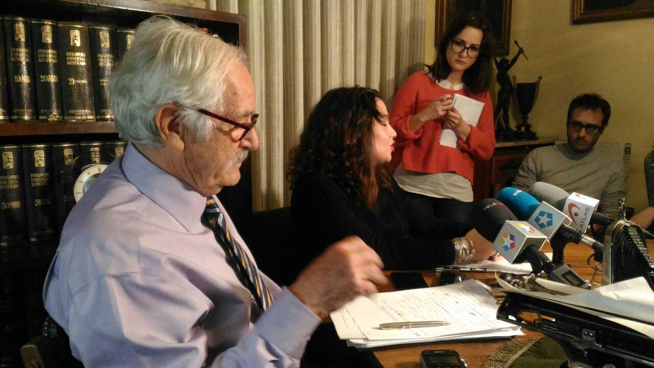 Benítez de Lugo y Mejías, durante la presentación de la sentencia sobre fondos buitre y VPO.
